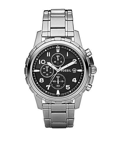 FOSSILMens Dean Stainless Steel Chronograph Watch