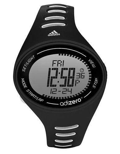 ADIDASLadies Adizero Black and White Digital Sport Watch
