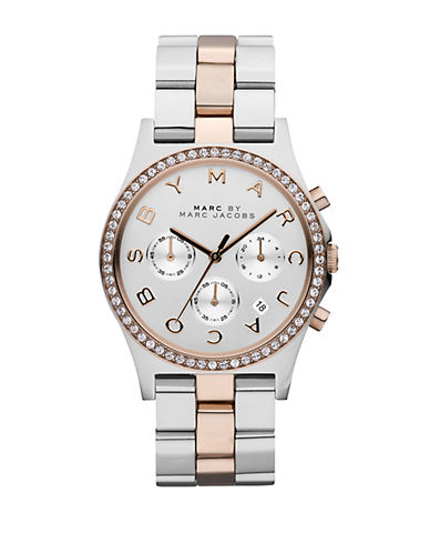 MARC BY MARC JACOBSLadies Henry Crystallized Two-Tone Chronograph Watch