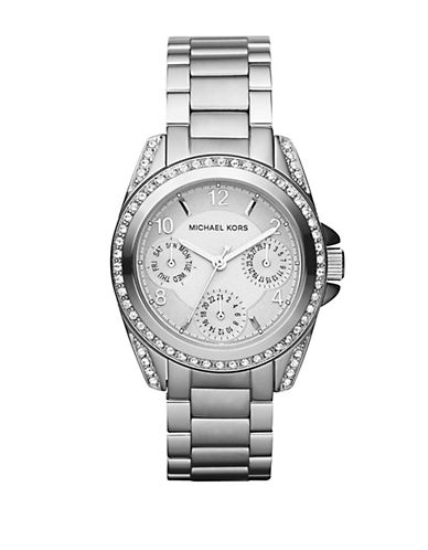 MICHAEL KORS Ladies Stainless Steel Crystal Chronograph Watch