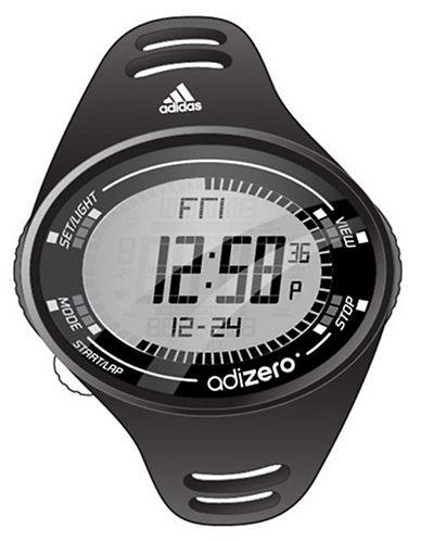 ADIDASMens Adizero Matte Black Digital Sport Watch