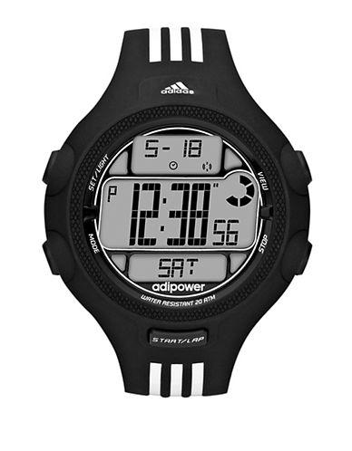 ADIDASMens Adipower Black and White Stripe Digital Watch