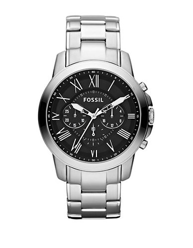 FOSSILMens Grant Chronograph Stainless Steel Watch