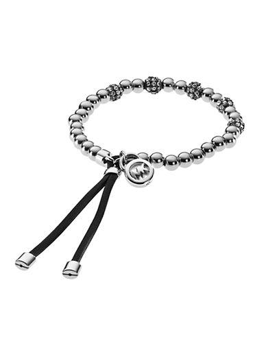 MICHAEL KORSSilver Tone Bead Fireball Stretch Bracelet