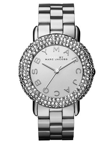 MARC BY MARC JACOBSLadies Marci Stainless Steel Watch with Crystal Bezel