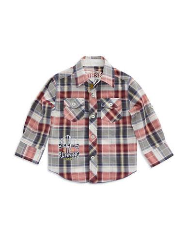 GUESSBoys 2-7 Plaid Sport Shirt