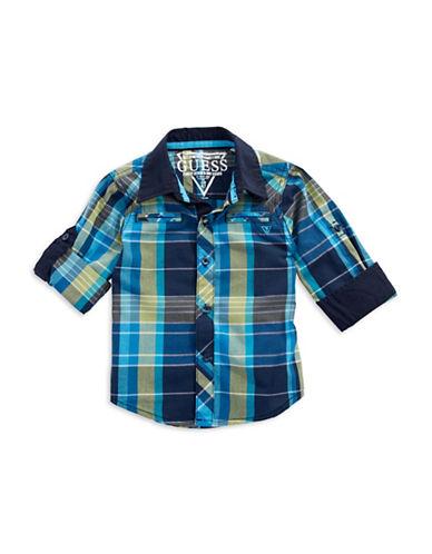 GUESSBoys 2-7 Plaid Button Down Shirt