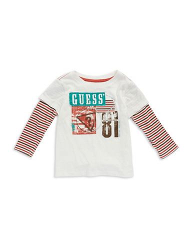 GUESSBaby Boys Faux Layered T Shirt