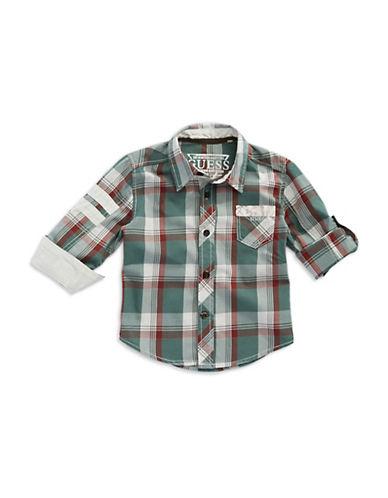 GUESSBoys 2-7 Plaid Short Sleeved Sport Shirt