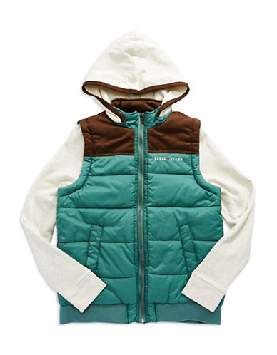 GUESS Boys 8-20 Faux Layered Puffer Jacket