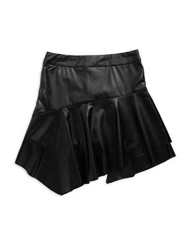 GUESSGirls 7-16 Asymmetrical Faux Leather Skirt