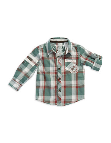 GUESS Baby Boys Plaid Dress Shirt