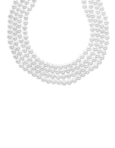 LORD & TAYLOR100 Inch 4.5mm Grey Pearl Necklace Strand