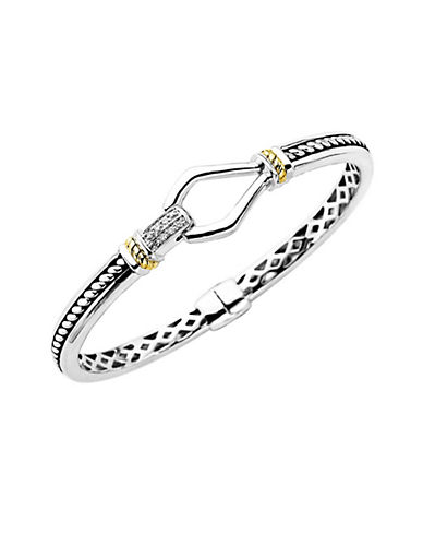 LORD & TAYLORSterling Silver with 14Kt. Yellow Gold Diamond Bracelet