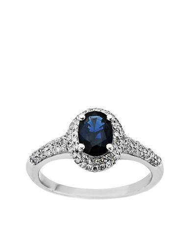 LORD & TAYLOR Sapphire Ring in 14 Kt. White Gold .2 ct. t.w.