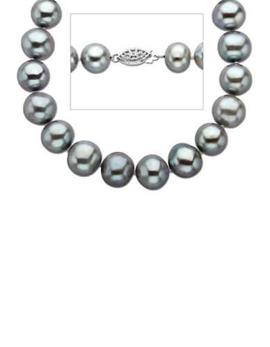 LORD & TAYLORGrey Pearl Strand Necklace in Sterling Silver 18 inches 11MM