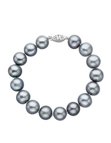 LORD & TAYLORGrey Pearl Bracelet in Sterling Silver 8 Inch 11MM