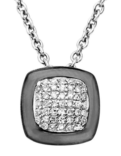 LORD & TAYLORBlack Rhodium and Diamond-Accented Pendant in Sterling Silver