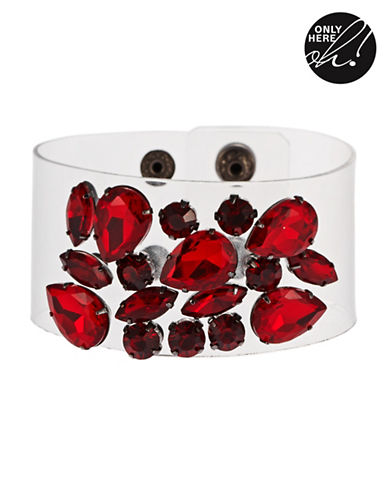 424 FIFTHTwo Toned Gemstone Accented Bracelet