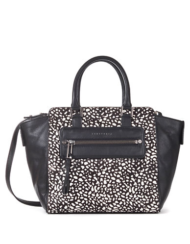 SANCTUARY Hero Leather and Hair Calf Tote