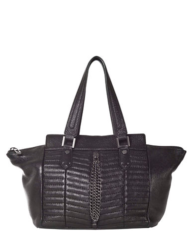 SANCTUARY Heavy Metal Leather Tote Bag