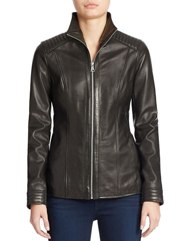 MARC NEW YORK ANDREW MARCQuilted Detail Leather Jacket