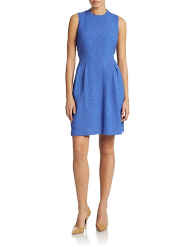 Marc New York Andrew Marc Jacquard Fit and Flare Dress