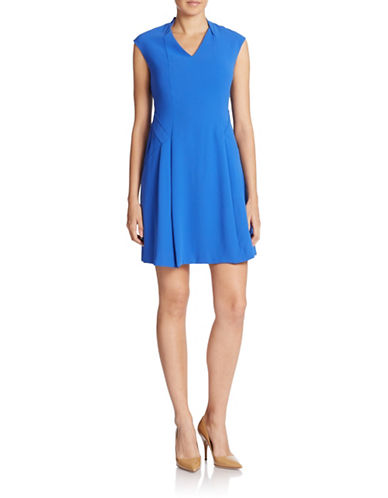 MARC NEW YORK ANDREW MARCV-Neck Fit-and-Flare Dress
