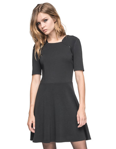 ANDREW MARCContrast Fit and Flare Dress