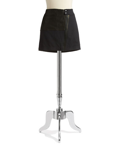 ANDREW MARCLeather Accented Skirt