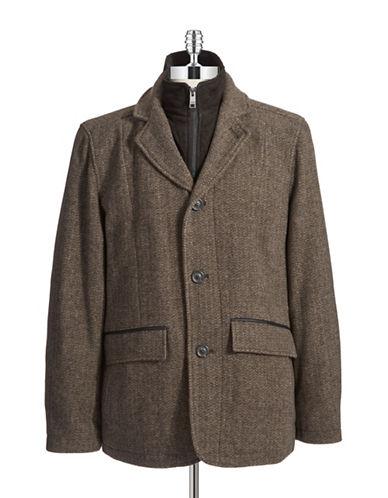 ANDREW MARCHarrison Bibbed Blazer Coat