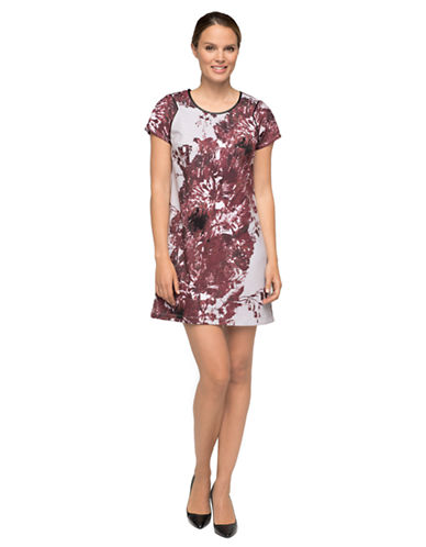 MARC NEW YORK ANDREW MARCAbstract Floral Print Shift Dress