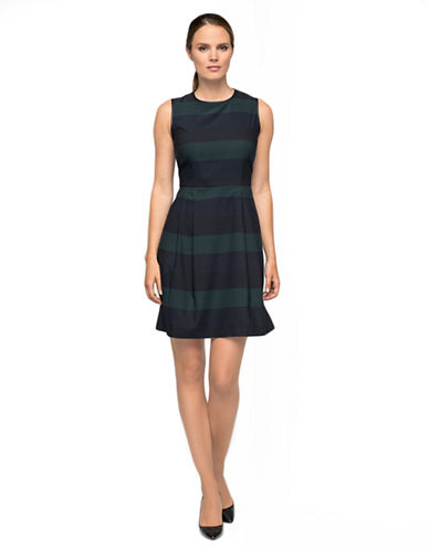 Shop Marc New York Andrew Marc online and buy Marc New York Andrew Marc Striped Pleated Dress dress online