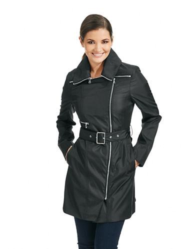 MARC NEW YORK ANDREW MARCRue Asymmetrical Zip Trench Coat