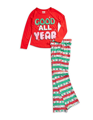 Sleep On It - Good All Year Holiday Pajama Set for Girls