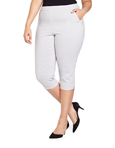 Plus Alexa Solid Capri Pants plus size,  plus size fashion plus size appare