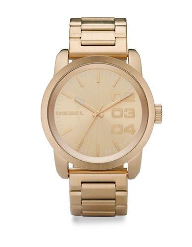 Goldtone Stainless Steel Analog Bracelet Watch