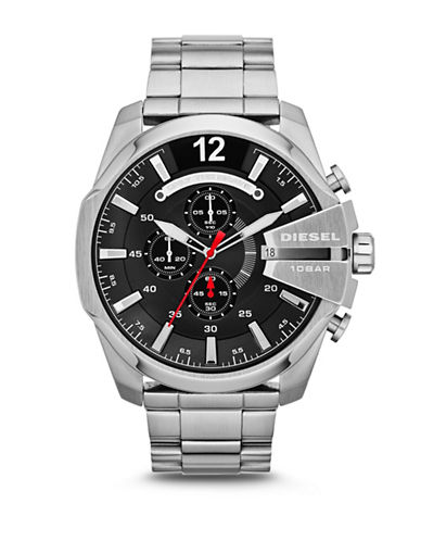 Brushed Stainless Steel Mega Chief Bracelet Watch