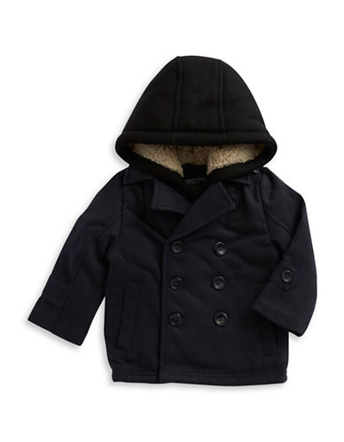LONDON FOG Boys 2-7 Faux Shearling-Lined Wool Coat