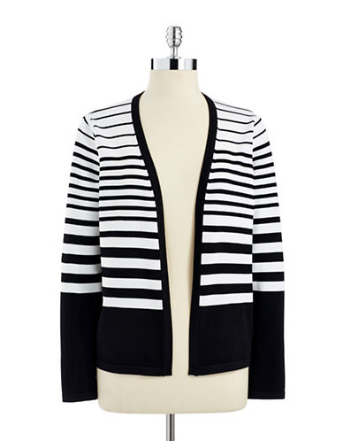 CALVIN KLEIN Striped Open Front Cardigan