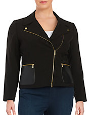 Plus Size Jackets And Blazers Fall Leather Jackets