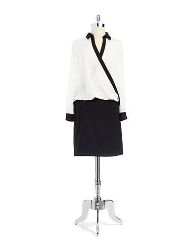 CALVIN KLEINColorblock Shirt Dress