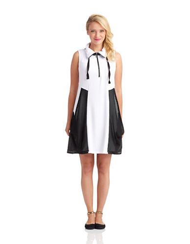 Shop Kensie online and buy Kensie Shirt Dress with Mesh Accents dress online