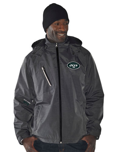3 FOUR NY Jets Three-Layer Soft Shell Hooded Jacket
