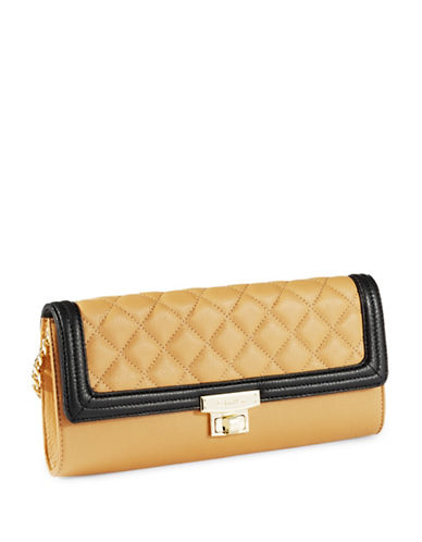 CALVIN KLEINGeneva Leather Quilted Clutch