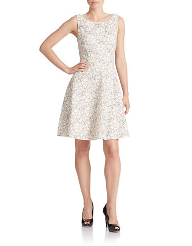 Shop Betsey Johnson online and buy Betsey Johnson Lace Fit-and-Flare Dress dress online