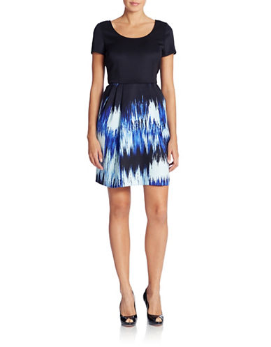 Shop Betsey Johnson online and buy Betsey Johnson Printed Skirt Fit and Flare Dress dress online
