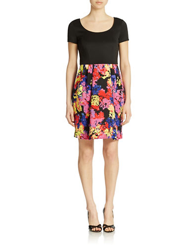 BETSEY JOHNSONFloral Skirt Fit and Flare Dress