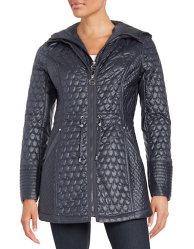 laundry by shelli segal petites female 201920 quilted anorak jacket
