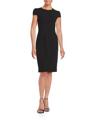 Black Leather Sheath Dress | Lord & Taylor